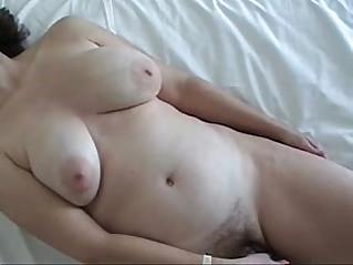 Big titty wife enjoying favorite vib