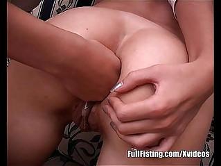 Pretty Teen Strapon Fucking