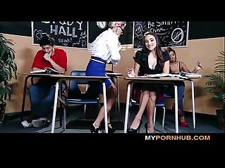 STUNNING BRUNETTE SCHOOLGIRL SEDUCES HER HOT BLONDE CLASSMATE View