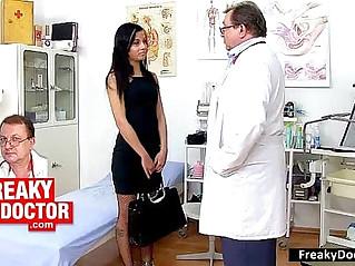 Czech chick Jennifer Dark lesbian strap on fucking including anal