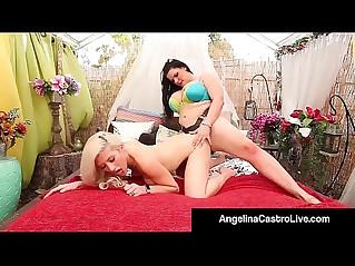Cuban queen angelina castro strapon fucks asian cristi ann