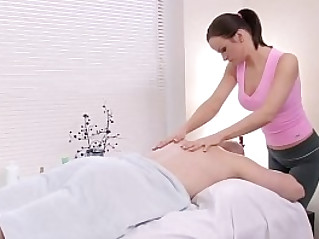 Stud Gets Some Extra During Massage