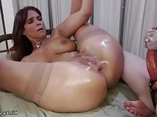 Busty Milf anal fist pale lesbian
