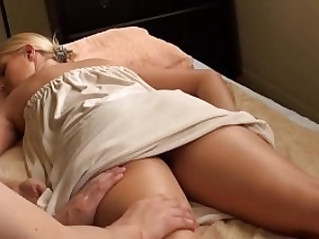blonde lesbian babe massaged vanessa cage