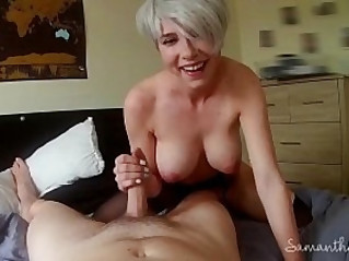 Lesbian takes her first real cock POV Samantha Flair