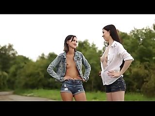 Daphne Angel and friend enjoying massage outdoor