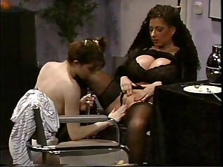 Busty Tiziana Redford in Black lesbian scene