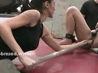 Lesbian sluts in nasty gangbang sex
