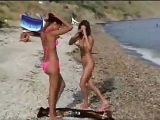 Teens Nude Nudist Beach Voyeur Ass Pussy and Tits